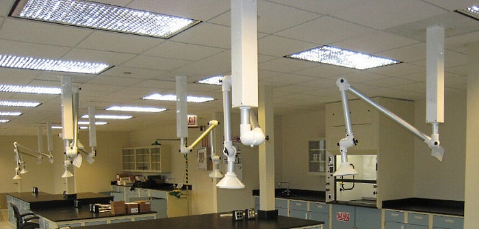 Ceiling Drop Snorkels in WI Lab