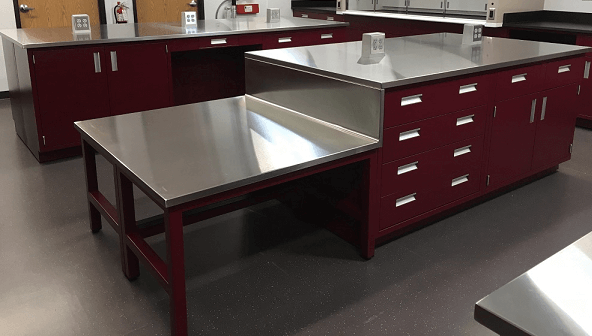 Stainless Steel Cabinets and Counters for Lab