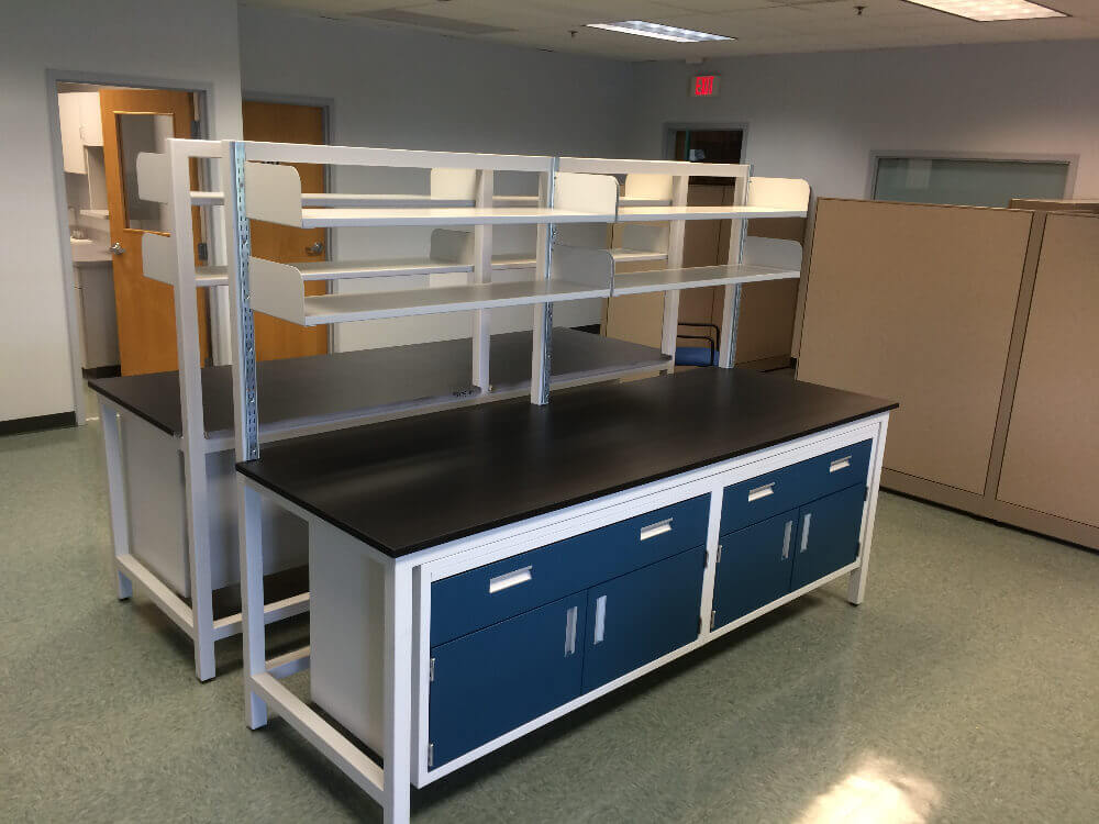 Flexible lab furniture systems gallery before and after for Table pliable