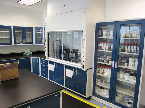 VAV Fume Hood and Matching Cabinets
