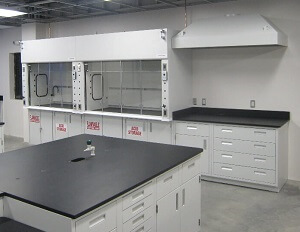 Canopy Style Fume Hood in Lab