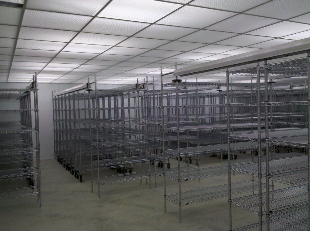mobile wire lab shelving
