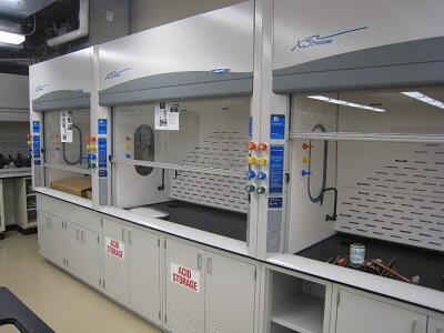 High Performance Fume Hoods in Midwest Lab