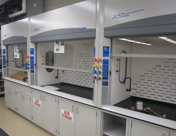 Newly Installed Fume Hoods