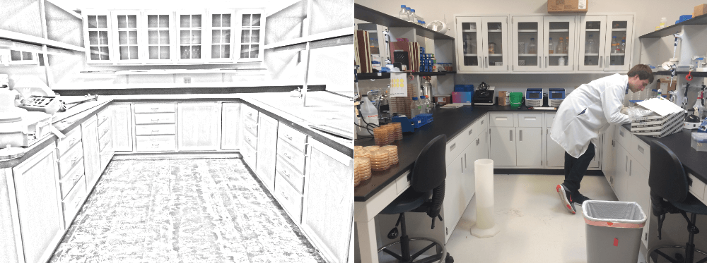 Before and After New Lab Design