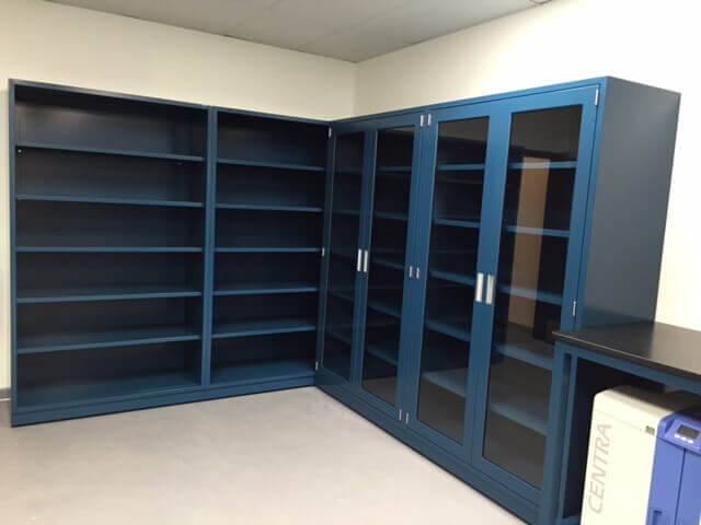 Modular Steel Lab Furniture Gallery Before And After Lab Images - Lab storage cabinets