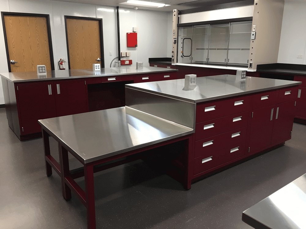 Malarkey Roofing Dual Level Lab Counter