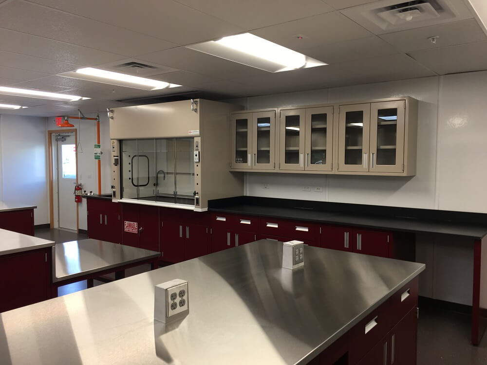 Malarkey Roofing Laboratory Fume Hoods for Better Ventilation