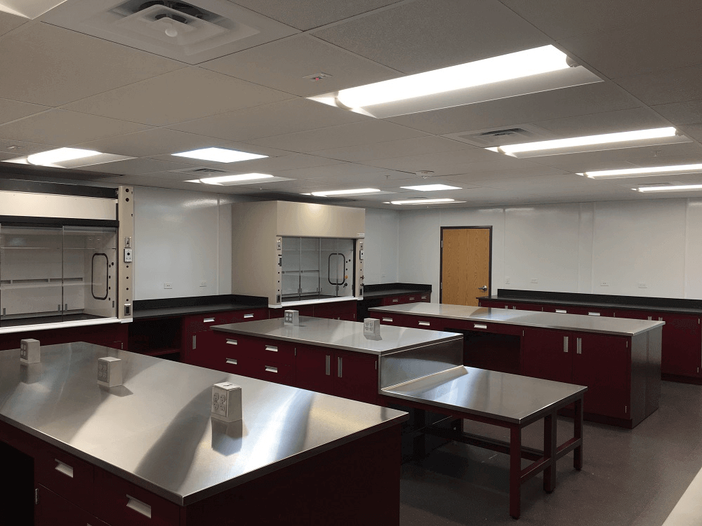 Stainless Steel Lab Counters at Malarkey Roofing
