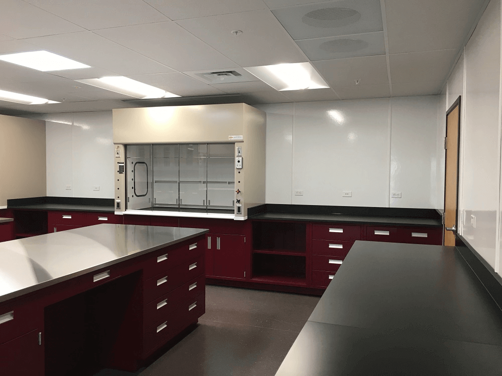 Steel and Epoxy Lab Counters