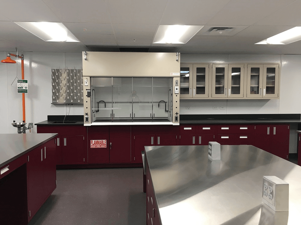 Malarkey Roofing Laboratory Fume Hoods and Counters