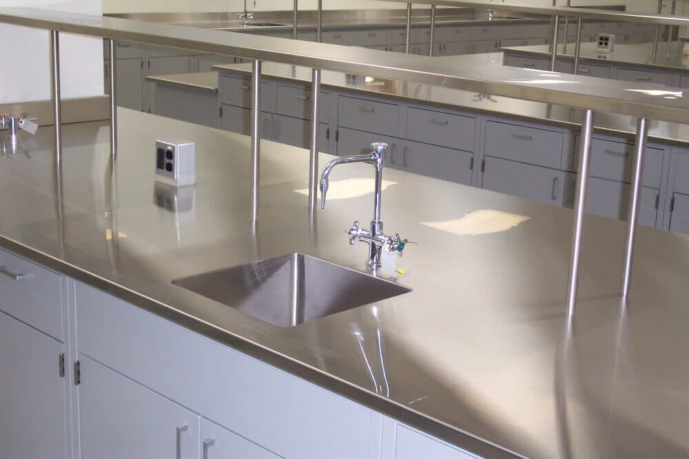 Stainless Steel Integral Sink Psa Laboratory Furniture And