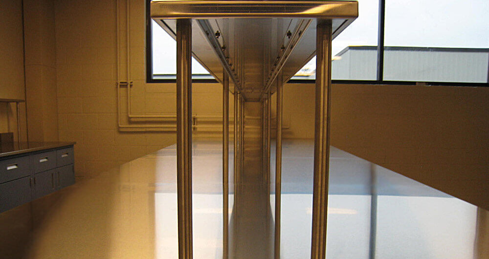 Laboratory Countertops Gallery Before And After Lab Bench Images Stainless Steel