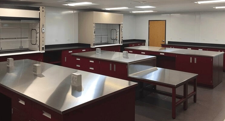 Lab with Epoxy and Stainless Steel Counters