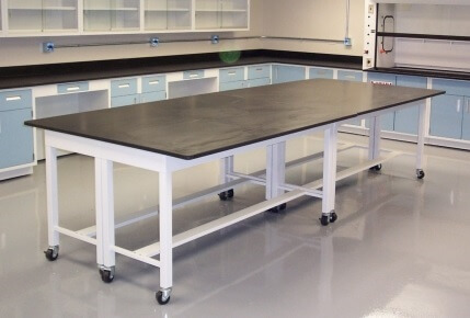 Steel and Epoxy Lab Table