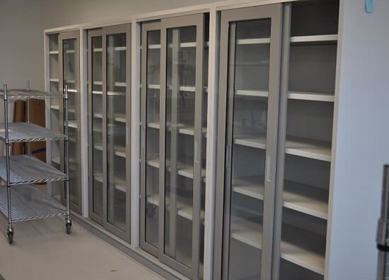 Tall Steel Lab Cabinets for Storage