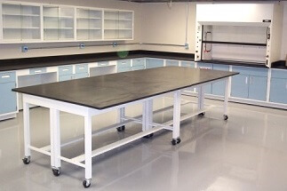Lab with Thin Wall Fume Hood