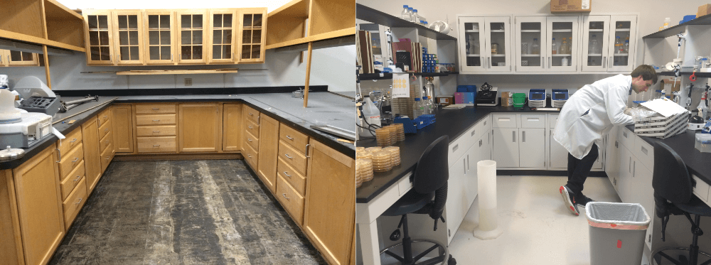 American Lab Design Before and After