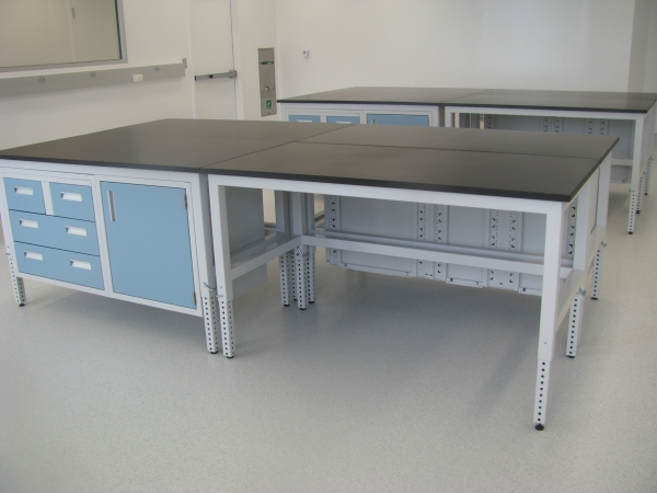 Adjustable Height Laboratory Tables