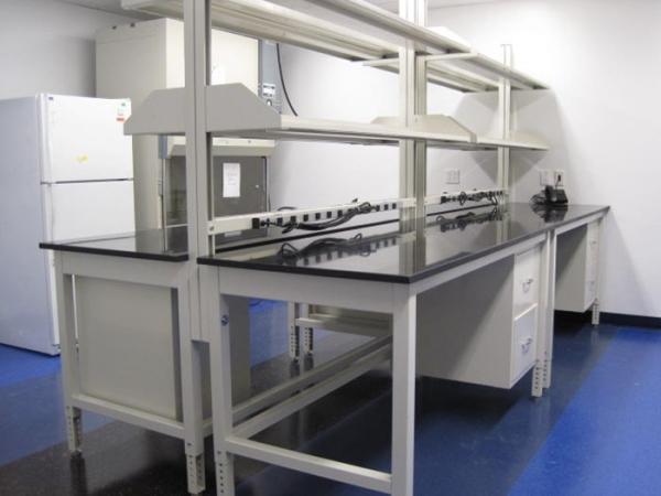 Adjustable Height Laboratory Tables Table Steel Shelves