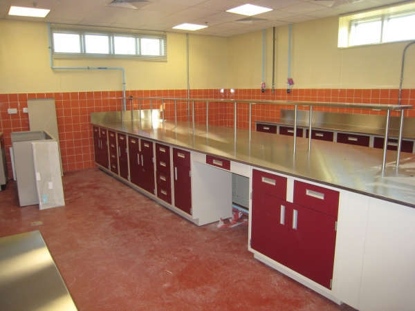 Stainless Steel Integral Sink Laboratory Countertops
