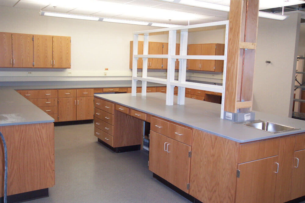 lab table shelving